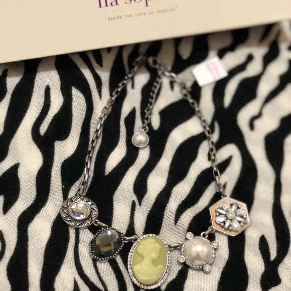 Lia Sophia Jewelry - Gorgeous Gunmetal Necklace